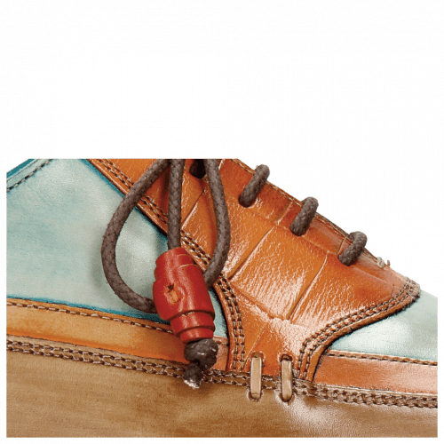 Oxford shoes Marvin 12 Brown Orange Blue