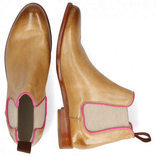 Ankle boots Selina 48 Imola Sand Binding Fluo Fuxia
