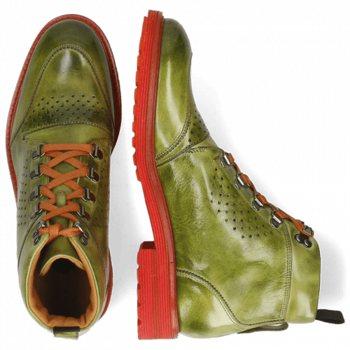 Ankle boots Trevor 5 Ultra Green Laces Orange