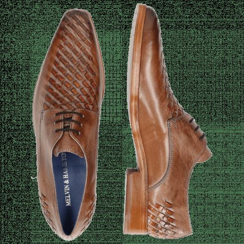 Derby shoes Lewis 25 Classic Cappu Interlaced Orange LS