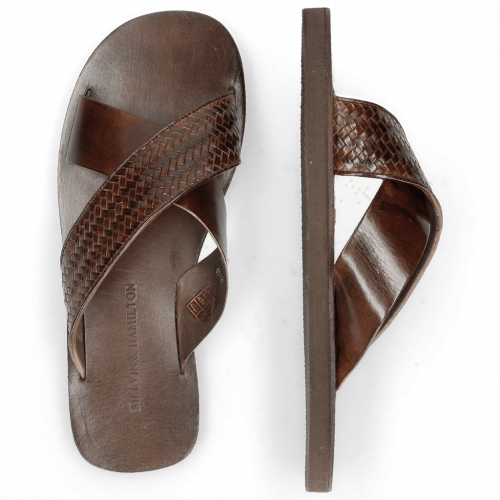Mules Sam 23 Mesh Fish Plate Dark Brown Modica