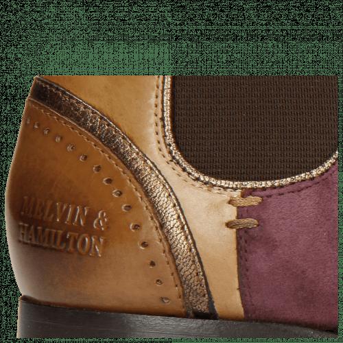 Ankle boots Sally 19 Tortora Aztek Bronze Suede Chilena