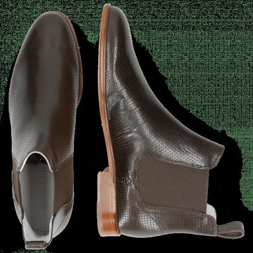Ankle boots Susan 10 Salerno Perfo Dark Brown Elastic Brown