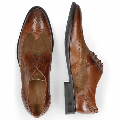 Derby shoes Victor 2 Rio Mid Brown Suede Pattini Roccia