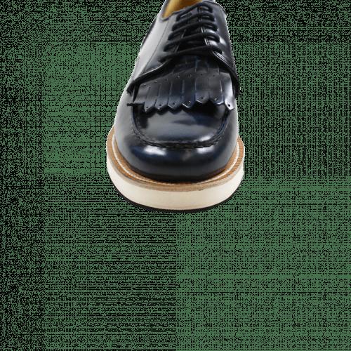 Derby shoes Kelly 13 Brush Blue XL Malden White Rubber Black