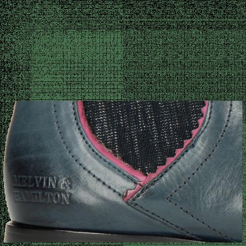 Ankle boots Susan 67 Helio Bubblegum Elastic Glitter