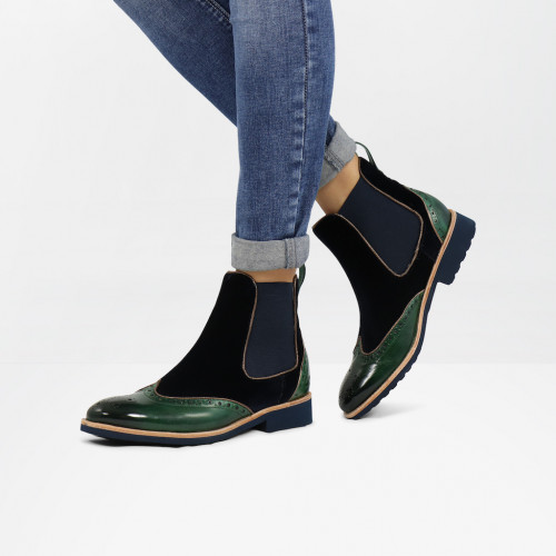 Ankle boots Amelie 43 Pine Velluto Midnight