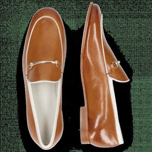 Loafers Scarlett 47 Pisa Tan Binding Nappa White Trim Gold