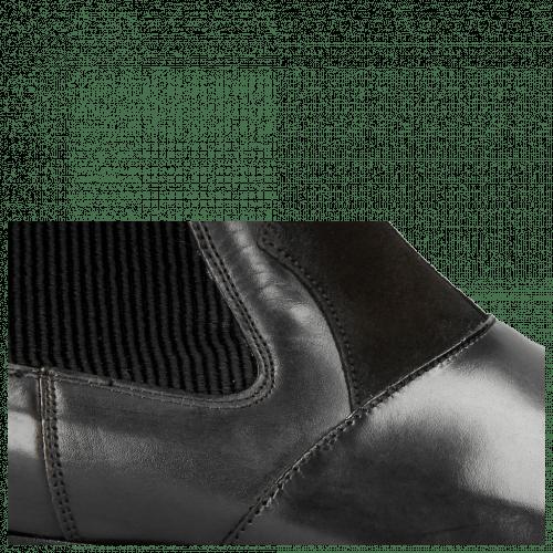 Ankle boots Elvis 12 Turtle Black Suede Pattini Black