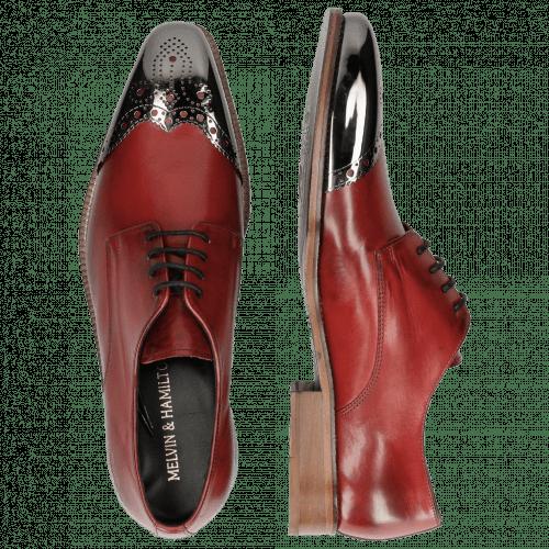 Derby shoes Lance 1 Brilliant Red Metal Toe Cap