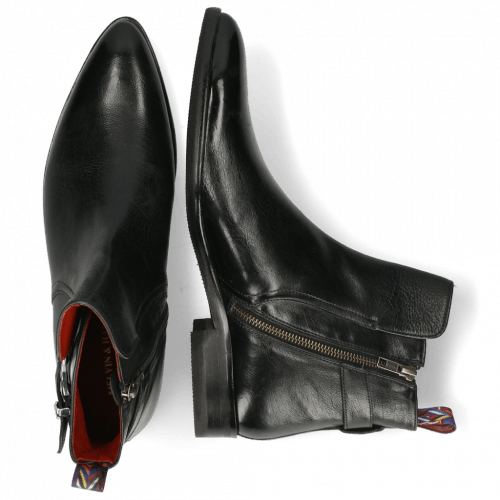 Ankle boots Toni 35 Pavia Black Loop Lining Red