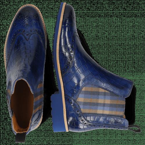 Ankle boots Selina 6 Crock Electric Blue Elastic Norwegian