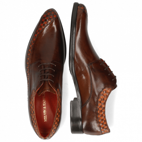 Derby shoes Toni 36 Woven Orange Mogano Mid Brown