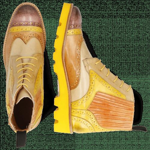 Ankle boots Amelie 17 Vegas Mogano Sun Tan Sand Camel Arancio