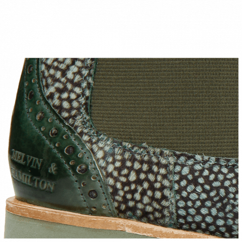 Ankle boots Amelie 5 Verde Militare Hairon Halftone