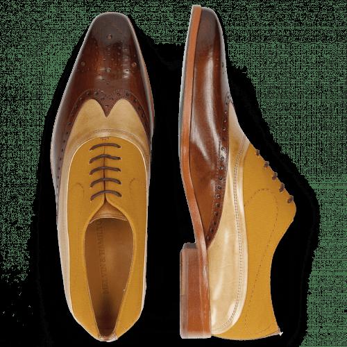 Oxford shoes Lewis 4  Wood Canvas Orange