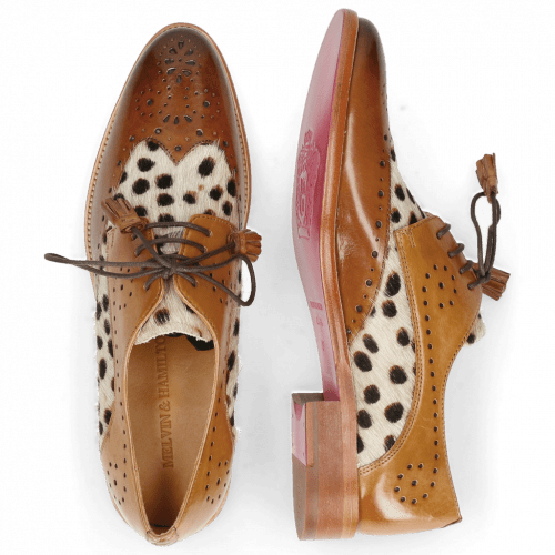 Derby shoes Betty 3 Wood Hairon Wildcat Sand
