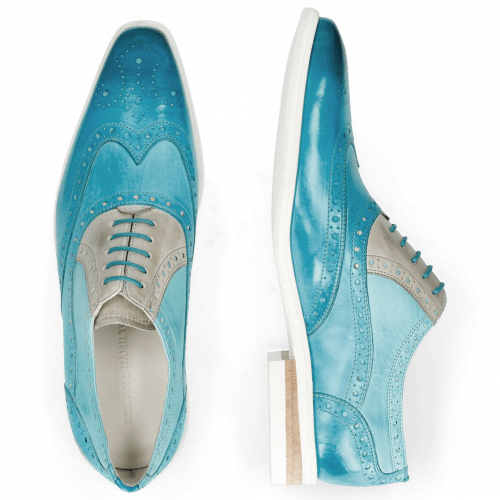 Oxford shoes Lance 14 Vegas Turquoise Abyss Digital