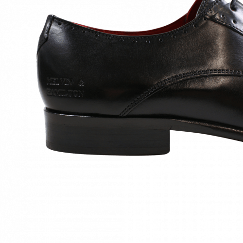 Derby shoes Toni 8 Crust Black Crust Perfo Black LS Black