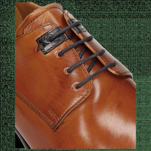 Derby shoes Clint 1 Tan Deco Pieces Marine