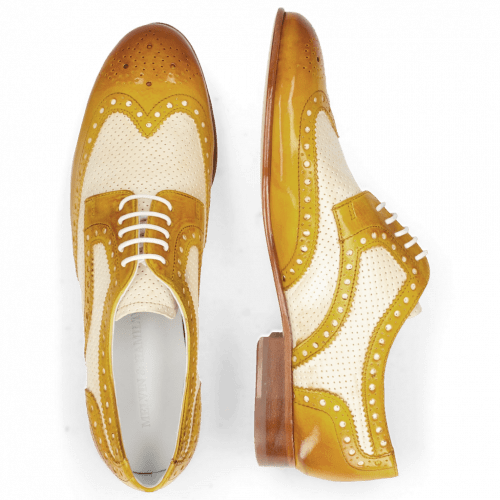 Derby shoes Sally 66 Vegas Sun Perfo White