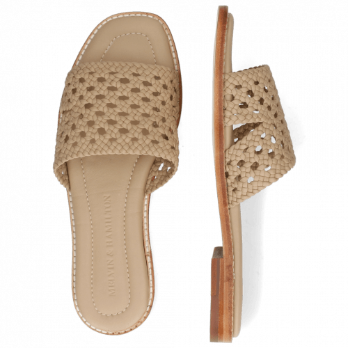Mules Elodie 20 Mignon Open Woven Brume
