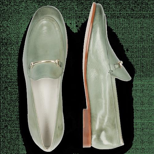 Loafers Scarlett 22 Glove Nappa Tropical Sea Trim Gold