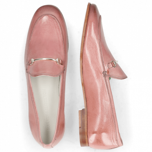 Loafers Scarlett 22 Glove Nappa Pink Salt Trim Gold