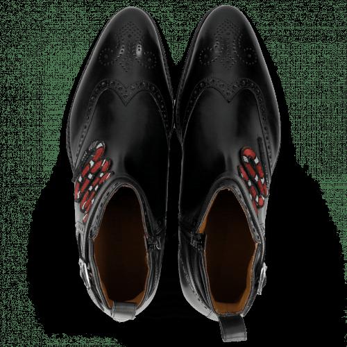 Ankle boots Kane 9 Black Strap Black Patch Snake