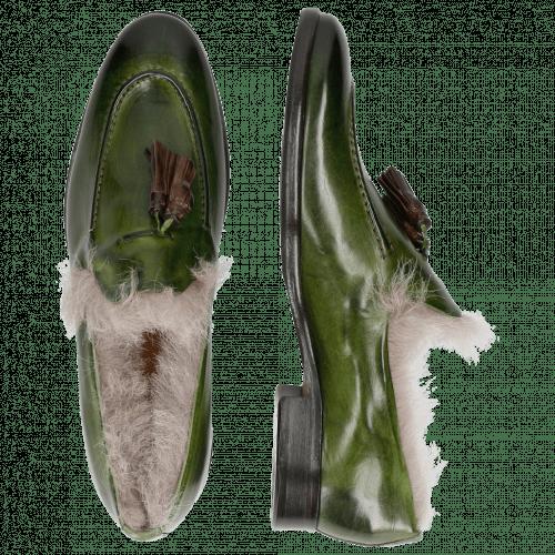 Loafers Clint 6 Ultra Green Dark Brown Tassel