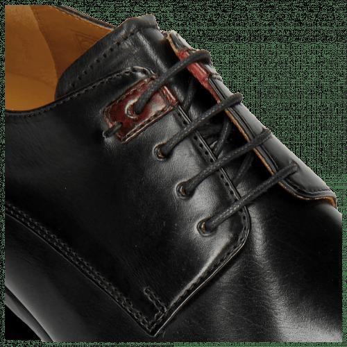 Derby shoes Clint 1 Black Deco Pieces Ruby
