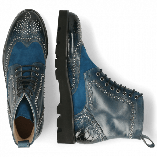 Ankle boots Sally 120 Crock Ice Lake Sheep Suede Turquoise