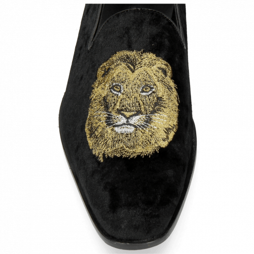 Loafers Prince 1 Velluto Black Lion