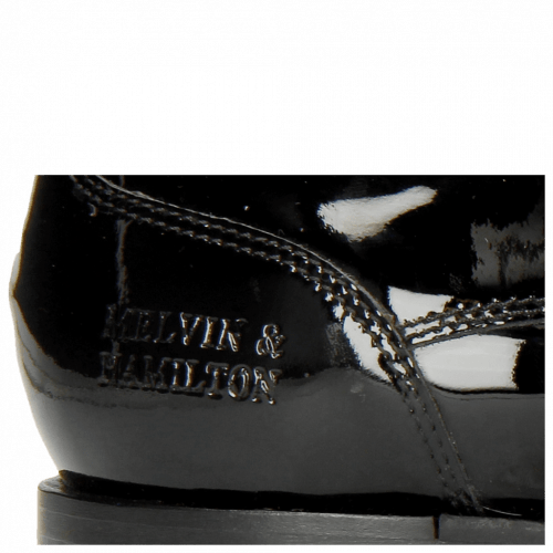 Derby shoes Kane 2 Patent Black Tongue Ribbon
