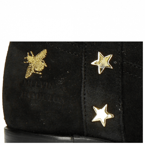 Ankle boots Lizzy 5 Lima Split Black Embroidery Bee