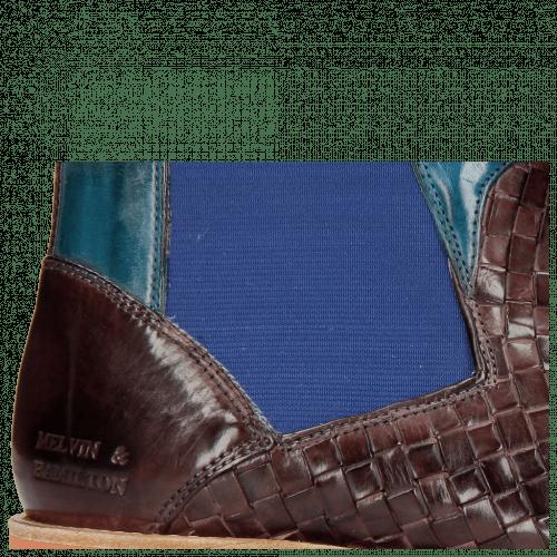 Ankle boots Brad 9 Woven Deep Pink Bluette
