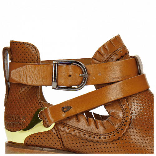 Ankle boots Alina 1 Perfo Tan Strap Tan