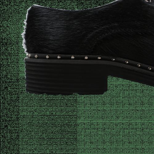 Derby shoes Sissy 1 Black Rivets Nickel