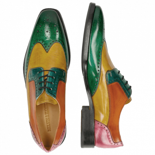 Derby shoes Jeff 14 Electric Green Electric Yellow Turquoise Electric Orange Fuxia