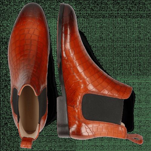 Ankle boots Susan 10 Crock Orange Elastic Dark Brown