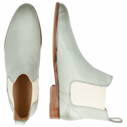Ankle boots Susan 10 Salerno Perfo Sweet Green Elastic Off White