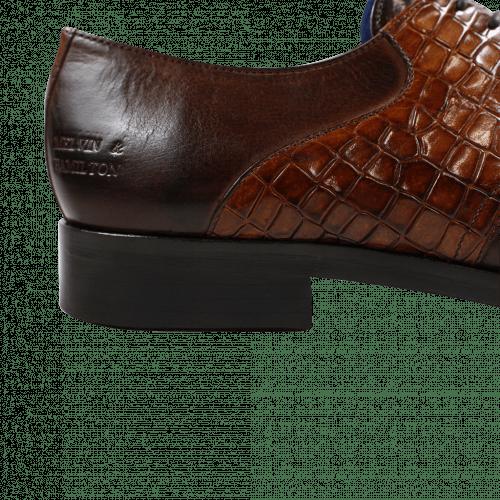 Derby shoes Lewis 29 Crust Rocco Dark Brown Tan LS Brown