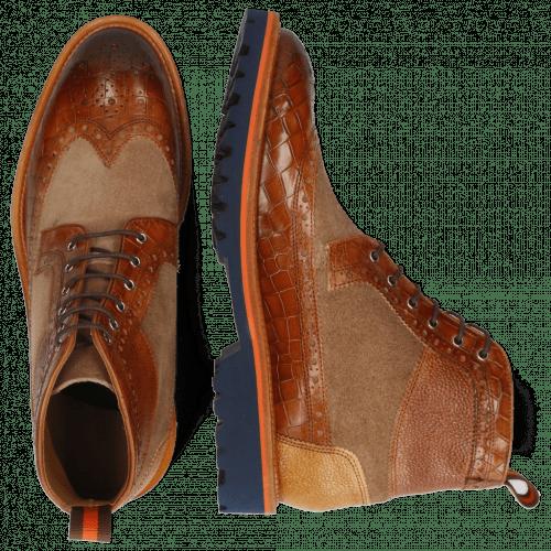 Ankle boots Matthew 9 Crock Cognac Suede Pattini Scotch Grain Sand