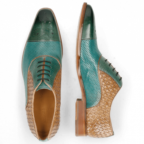Oxford shoes Lance 55 Perfo Guana Mermaid Woven Sand
