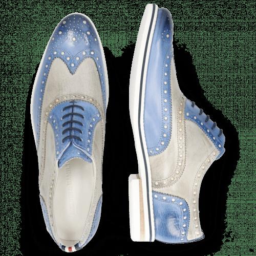 Oxford shoes Scott 12 Vegas Neptune Blue Digital White