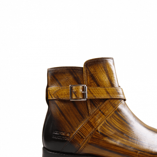 Ankle boots Nicolas 6 Yellow Shade & Lines Brown HRS