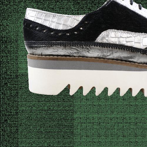 Derby shoes Lena 1 Brush Silver Black Rinca Metal Pewter Timor Light Pink Hair On Black Ladakh White Light Grey