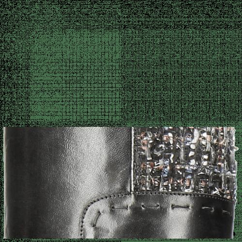 Boots Sally 61 Rio Black Textile Spark Rivets Welt