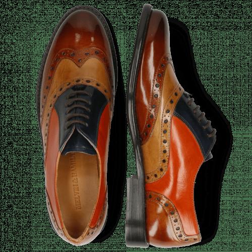 Oxford shoes Selina 24 Cognac Sand Marine Winter Orange