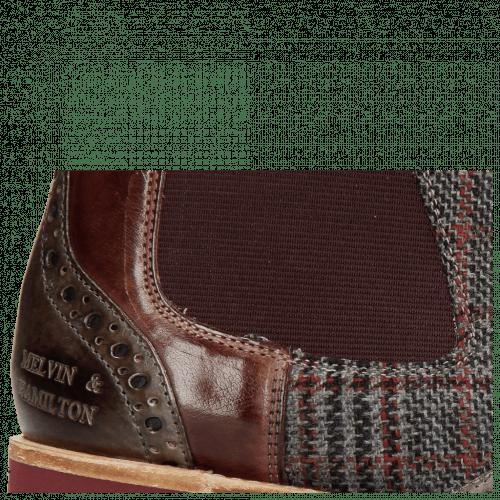 Ankle boots Selina 29 Grigio Textile Retro Plum